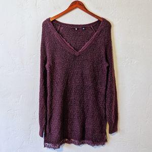 Anthropologie Burgundy Sweater